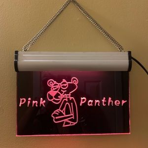 Vintage Pink Panther Lighted Bar Sign